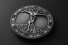 DETAILED TREE OF LIFE BELT BUCKLE METAL