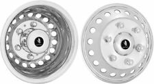 "SPRINTER 16"" WHEEL SIMULATOR WHEEL COVERS HUB CAPS POLISHED STAINLESS STEEL"