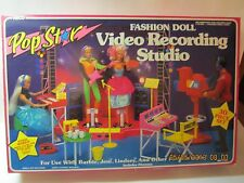 1985 Arco Barbie Fashion Doll Play Set In Box-Pop Star Recording Studio #7790 3+