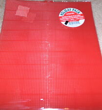 Plastic Canvas Christmas Pack - Green / Red / White Sheets NIP 7 Mesh 13.5x10.5""
