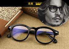 Vintage Depp Retro Women Men eyeglass Frames Glasses Eyewear Clear lenses Black