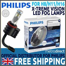 Philips X-treme Vision LED Fog Lamp x2 - Replacement of H8 H11 H16 Halogen