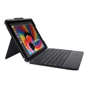 "Logitech Slim Combo Case Backlit Bluetooth Keyboard for iPad 9.7"" 5th & 6th Gen"