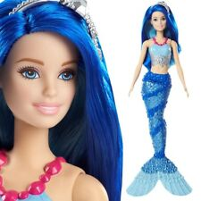 Regenbogen Meerjungfrau | Blaue Haare | Mattel FJC92 | Dreamtopia | Barbie Puppe