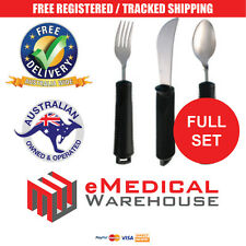 Bendable Cutlery Set - Includes bendable spoon, bendable fork, & rocker knife