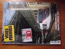 $$µ Revue Voies Ferrees N°187 30ans TGV  Mallet du Vivarais  TGV Pos Marklin