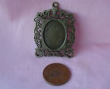 DOLLS HOUSE SINGLE ANTIQUE BRONZE FINISH PICTURE/MIRROR FRAME