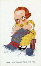 """PRINTED CHILDRENS POSTCARD """"WISH I WAS MAKING THIS FOR YOU"""" BY CHLOE PRESTON"""