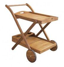Teewagen Servierwagen Kaffeewagen Beistellwagen Tisch Wagen Holz Akazie