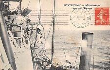 B86445 montevideo desembarque par mal tiempo ship bateaux   uruguay