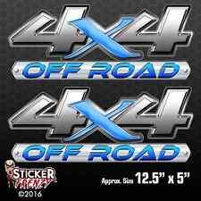 4x4 Metal X OFF Road 2 Pack Decal vinyl sticker Chevy Silverado GMC Sierra truck