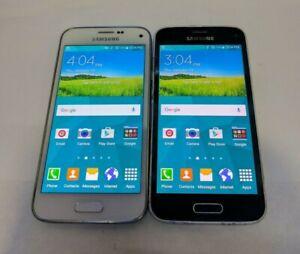 Lot of 2 Samsung Galaxy S5 Mini 16GB - Black/White (US Cellular) - Read Below