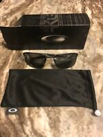 Oakley Squarewire OO407504 Rectangular Sunglasses with Grey Polarized Lens