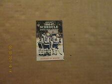 NHL Toronto Maple Leafs Vintage 1986-87 Molson's Logo Hockey Pocket Schedule