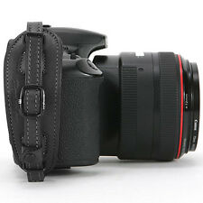Herringbone D-SLR Camera Leather Hand Grip Strap Heritage Type1 Black w/ Plate