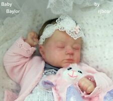 rjbour Joe Bourland BABY Baylor REBORN Realborn Autumn Asleep