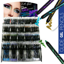 LA Girl Glide Gel Eyeliner Pencil *12 FULL SET (240pcs) w/ DISPLAY* Long Lasting