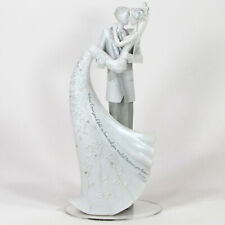 "Roman Inc THE KISS 9.25"" Cake Topper Bride Groom Language of Love 63601 MIB"