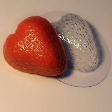 """Big strawberry"" plastic soap mold soap making mold mould"