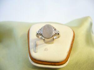 antik siegelring 835 silber.18,3mm.innendurchmesser blanco platte