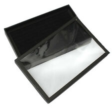 100 Ring Jewellery Display Box Cufflinks Storage Case Earring Tray Holder