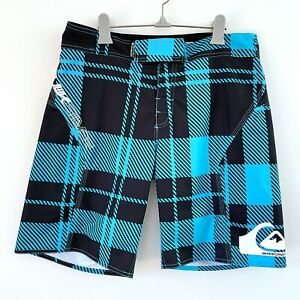Quiksilver Size 32 Men Performer Series Turquoise and Black Boardshorts Boardies