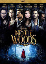 INTO THE WOODS Meryl Streep James Corden, Chris Pine, Anna Kendrick LIKE NEW DVD