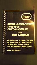 Triumph Parts Catalogue 1982 Models T140ES, T140E, TR7T, TR65 - 99-7507 [3-52]