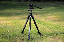 Manfrotto Video-Stativ-Kombi mit Fluid-Videokopf, Libelle, Tragetasche