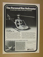 1978 RotorWay Scorpion 133 Helicopter photo vintage print Ad