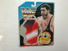 WWE ANDRE THE GIANT HASBRO WRESTLING FIGURE BACKING CARD WWF SERIES 1 SPANISH