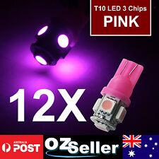 12X T10 5050 5SMD Purple LED Car Light Wedge Side Tail Bulbs Super Bright DC12V