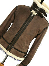 MENS EMPORIO ARMANI LEATHER SHEEPSKIN SHEARLING AVIATOR JACKET COAT 42/ 44R