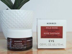 KORRES Wild Rose Vitamin C Brightening Eye Cream Moisturizer 0.5 Oz