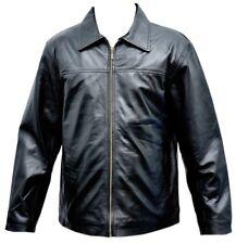 Big Mens Leather Jacket Guys Classic Soft Lamb Fashion Fit Tall Leather Jacket