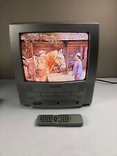 """magnavox mwc13d5 13"""" Crt Tv With Dvd Player Retro Gaming With Remote Tested Work"""