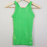 NIKE | Womens Green seamless Tank Top  [ Size XS / S  or AU 8 - 10 / US 4 - 6 ]