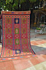 Antique Pink with Green Combination very tight Woven Shirvan Caucasus Flat Weave