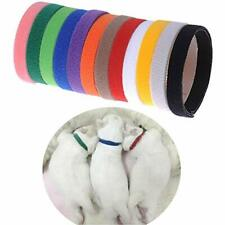Pack Of 12 Pet Dog Whelping Puppy Kitten Id Identify Sticker Collars Bands Soft