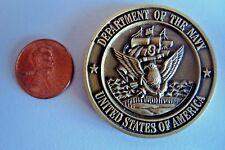 US COMMANDER FLEET ACTIVITIES SASEBO JAPAN DEPT OF NAVY MEDALLION CHALLENGE COIN