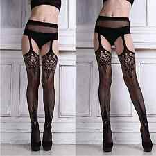 Sexy Tights Open Crotch Garter Belt Stockings Suspender Pantyhose Hosiery 6-12