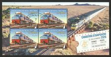 AUSTRALIA 2020 CANBERRA STAMP SHOW (RAILWAY) SOUVENIR SHEET OF 4 STAMPS IN USED
