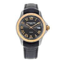 Raymond Weil Parsifal Gold PVD Steel Black Roman Dial Mens Watch 2970-SC5-00208