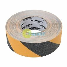 Anti-Slip Tape - 50mm X 18M Black/Yellow High Quality Abrasive On Pvc Carrier