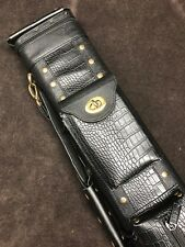 J&J Leatherette Black Embossed Croc 3 Butt 5 Shaft 3x5