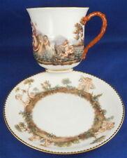 Superb 19thC Meissen Porcelain Capodimonte Design Cup & Saucer Porzellan Tasse