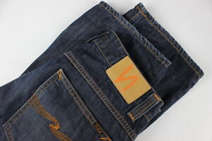 Nudie Jeans & Co.Bootcut Ola Homme W32/L34 Bleu Boutons Jean 34552-GS