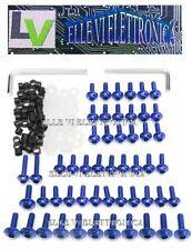 10023 SPEED Kit Viti Ergal 156 Pz Carene Colore BLU Yamaha YZF R6 1999 > 2002