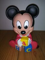 """Shelcore Disney Baby Mickey Hug-ems Squeeze toy vintage 1986 7"""" tall"""