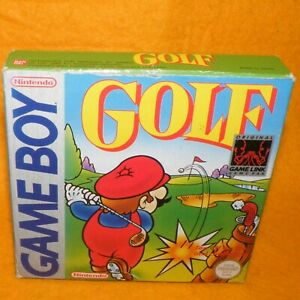 VINTAGE 1990 NINTENDO GAME BOY COMPACT VIDEO GAME SYSTEM GOLF PAL VERSION BOXED